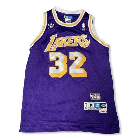 adidas Shirts & Tops | Adidas Magic Johnson Swingman Lakers Jersey ...